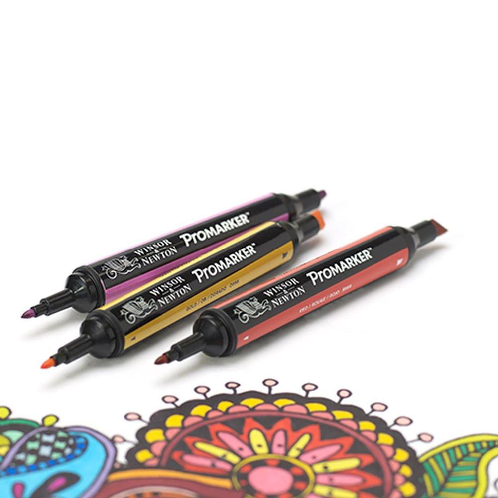 Winsor /& Newton ProMarker Twin Tip Graphic Art Marker PenSET OF ANY 48