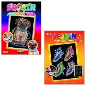 Pug and Street Feet Sequin Art Twin Pack