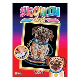 Sequin art sequin art kits 3d sequin art crafty arts pug sequin art solutioingenieria Gallery