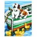 Puppies and Ducks Painting By Numbers