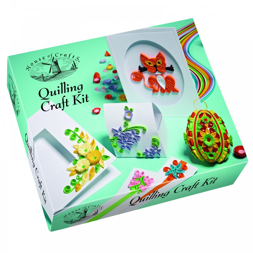 Quilling craft kit house of crafts from uk for Craft and hobby supplies