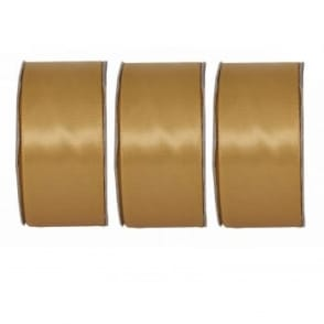 Radiant Gold Wide Satin Ribbon 3 Pack Bundle