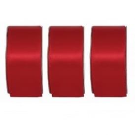 Radiant Red Wide Satin Ribbon 3 Pack Bundle