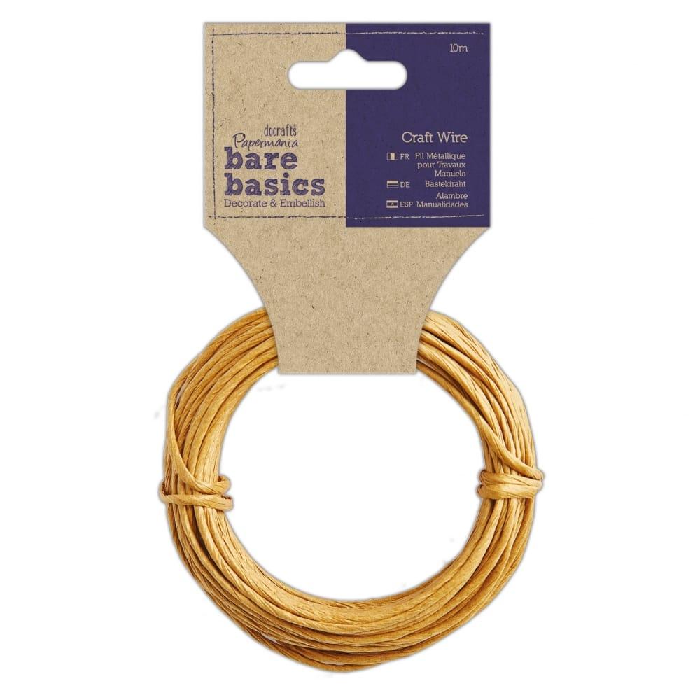 Raffia Covered Craft Wire 10m - CraftyArts.co.uk