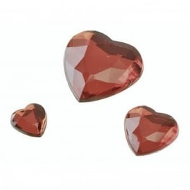 Red Glamour Gem Stones - Heart