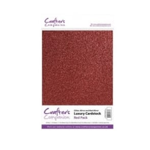 Red Luxury Cardstock Glitter, Matt and Mirror