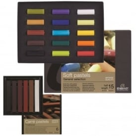 Rembrandt Soft Pastels Set of 15 + Traditional Earth Tones Pack of 6 Bundle