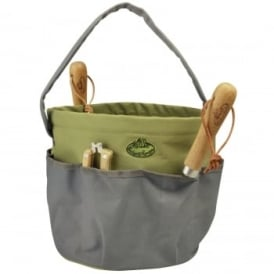 Round Canvas Garden Tool Bag