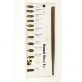 Round Hand Dip Pen & Nib Selection Box Set
