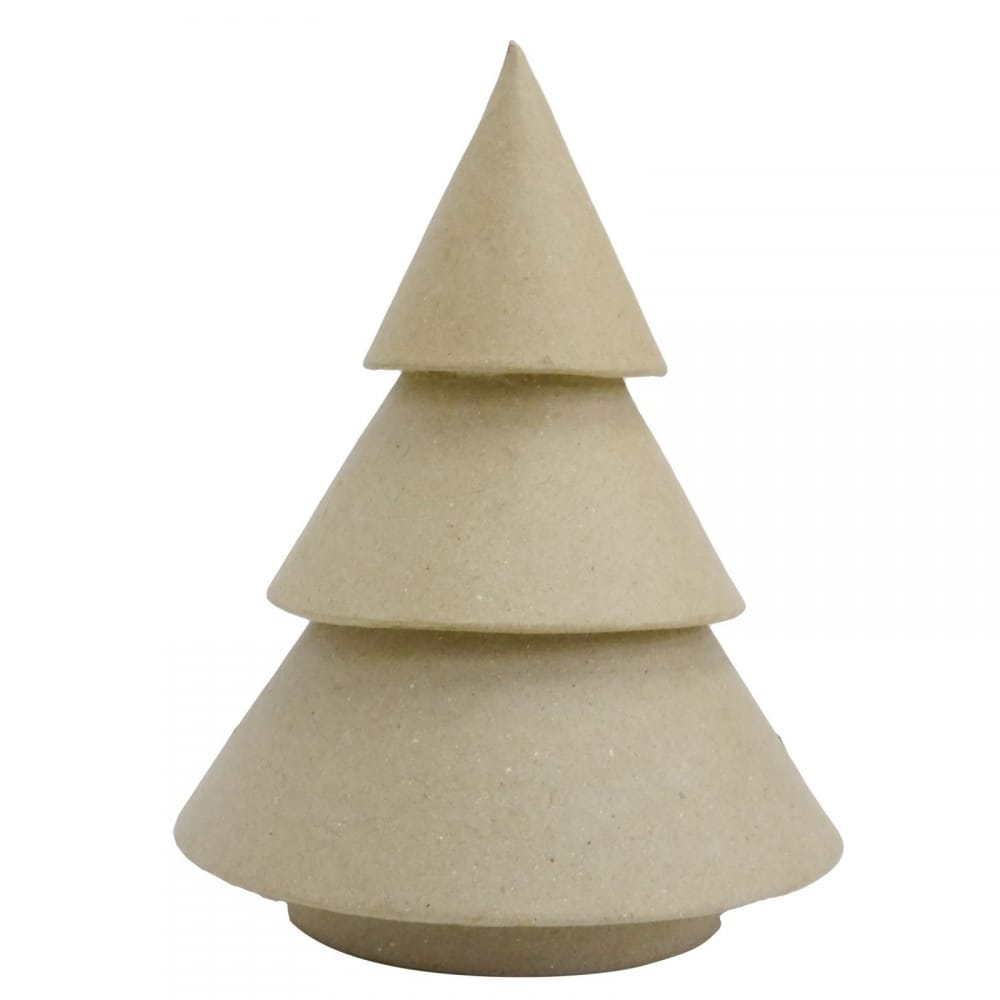 Round Paper Mache Christmas Tree 18cm - Decopatch from CraftyArts ...