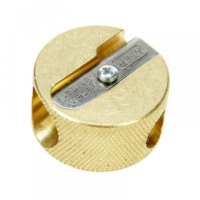 Round Solid Brass Double Hole Sharpener