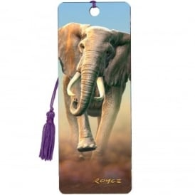 Royce 3D Bookmark - Charging Elephant