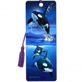 Royce 3D Bookmark - Orcas