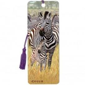 Royce 3D Bookmark - Zebras