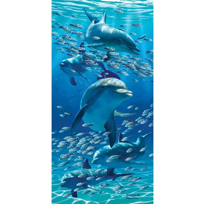 Royce 3D Wall & Door Poster - Dolphins