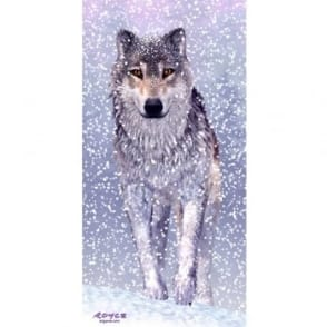 Royce 3D Wall & Door Poster - Snow Wolf