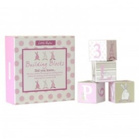 Rufus Rabbit Baby Building Blocks - Pink (B GRADE)*