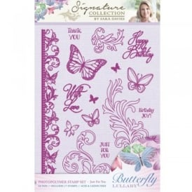 Sara Signature Butterfly Lullaby Collection - Just For You Photopolymer Stamp Set