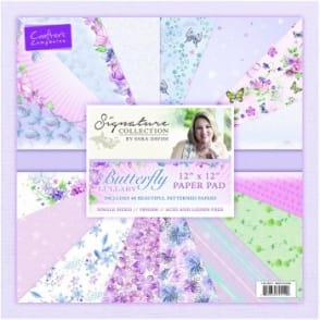 "Sara Signature Collection - Butterfly Lullaby 12"" x 12"" Pad"