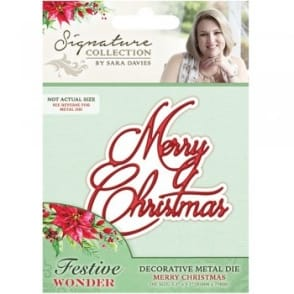Sara Signature Collection - Festive Wonder Metal Die Merry Christmas
