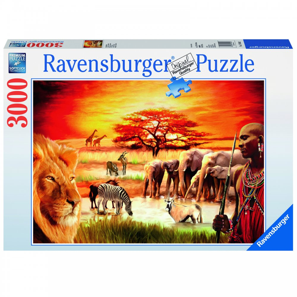 savannah masai 3000 piece puzzle ravensburger from. Black Bedroom Furniture Sets. Home Design Ideas
