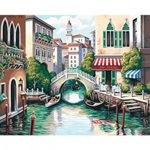 Scenic Canal Paint by Numbers