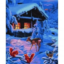 Schipper Premium Paint By Numbers Romantic Winter Night
