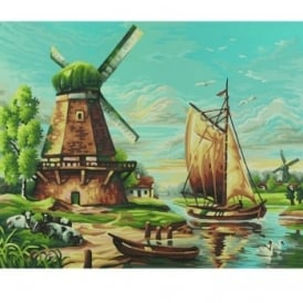 Schipper Premium Paint By Numbers Windmills