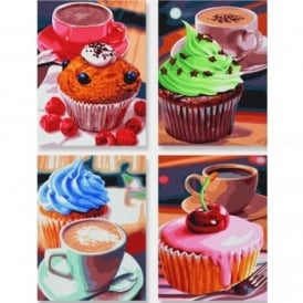 Schipper Quattro Paint By Numbers Cupcakes