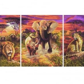 Schipper Triptych Paint By Numbers Africa Big Five