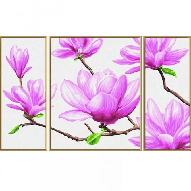 Schipper Triptych Paint By Numbers Magnolias