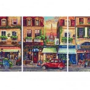 Schipper Triptych Paint By Numbers Nostalgic Paris
