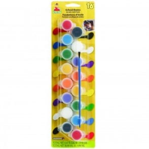 School Basics Acrylic Craft Paint 16 Colours