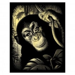 Scraperfoil Gold Chimp