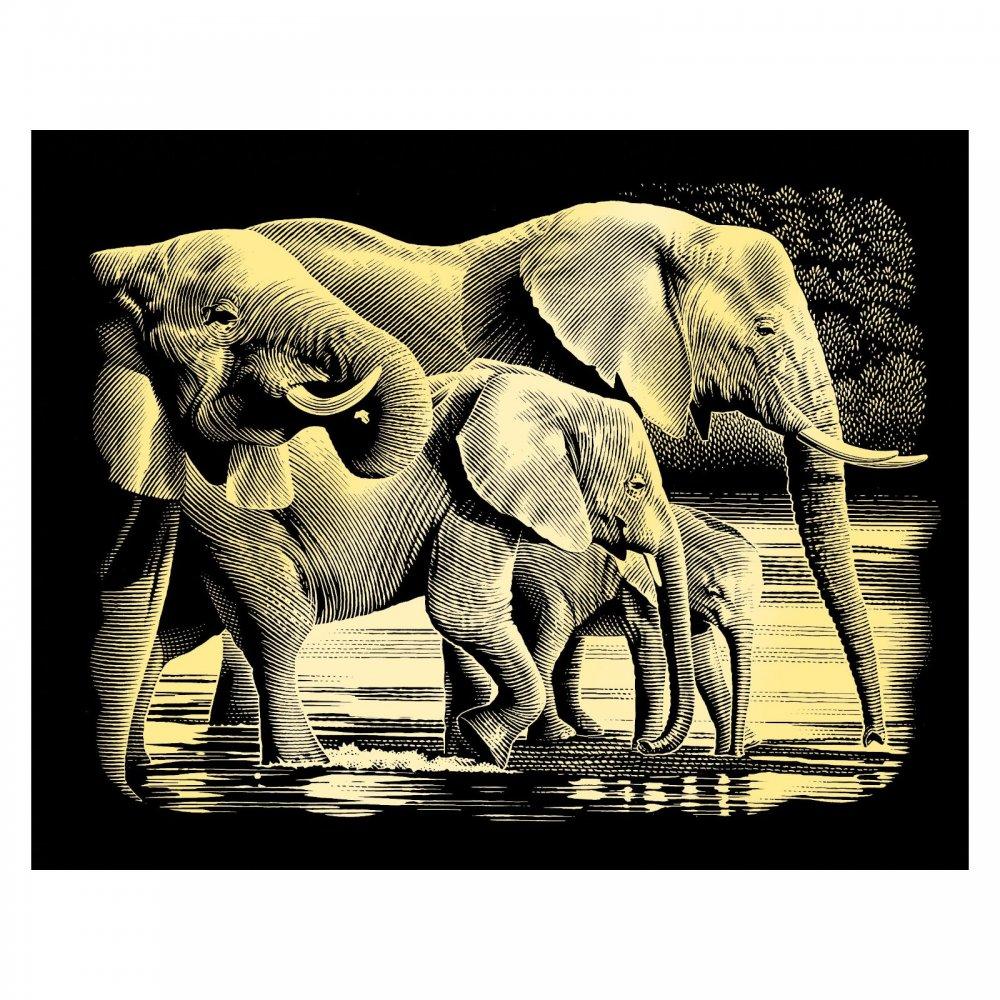 Gold-Elephants Reeves Scraperfoil-Medium