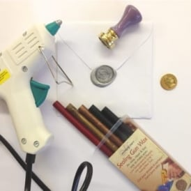 Sealing Wax Melting Gun, Wax and Stamp Bundle