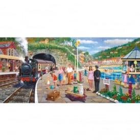 Seaside Train 636 Piece Puzzle