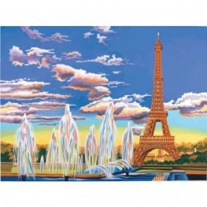 Senior Paint By Numbers Eiffel Tower
