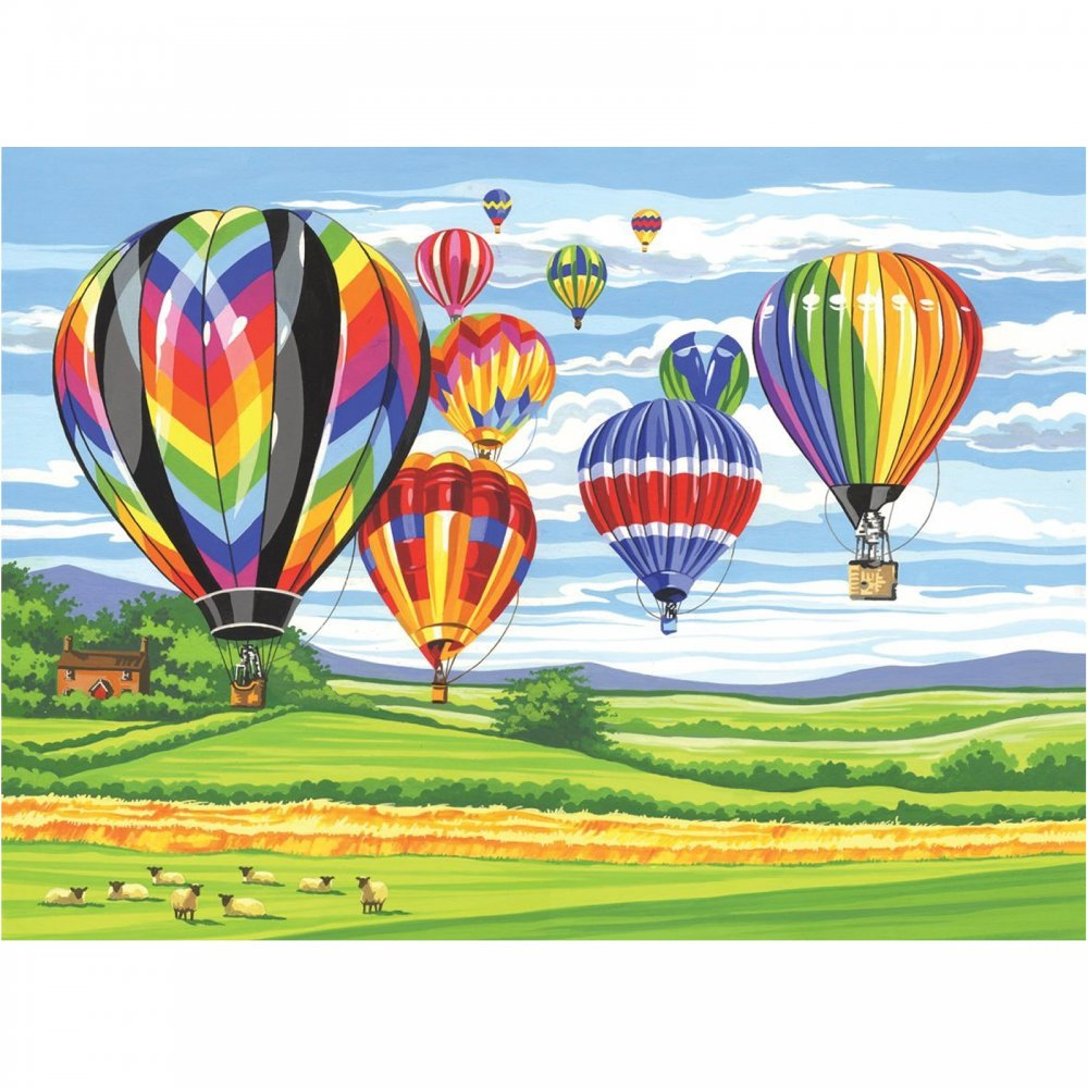 Senior Paint By Numbers Hot Air Balloons Craftyarts Co Uk