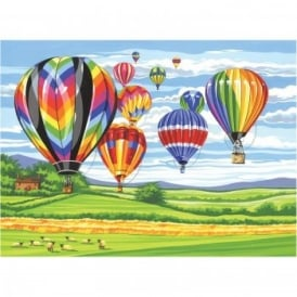 Senior Paint By Numbers Hot Air Balloons