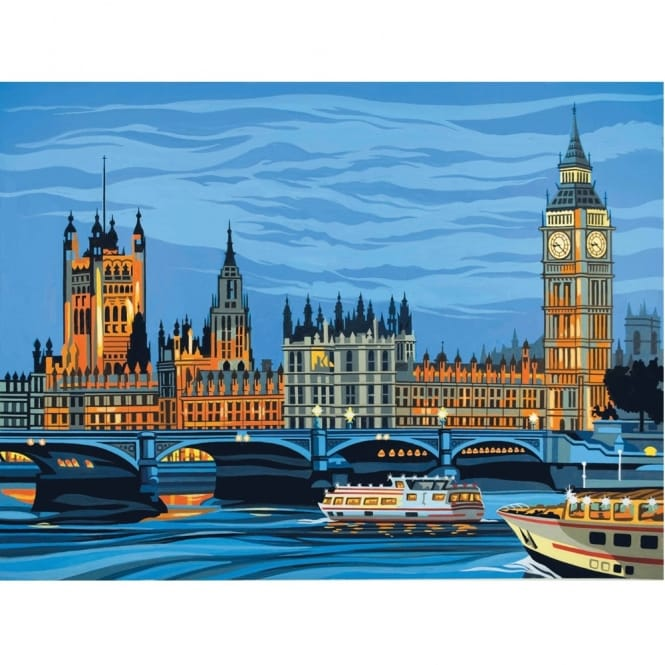 Senior Paint By Numbers Houses of Parliament