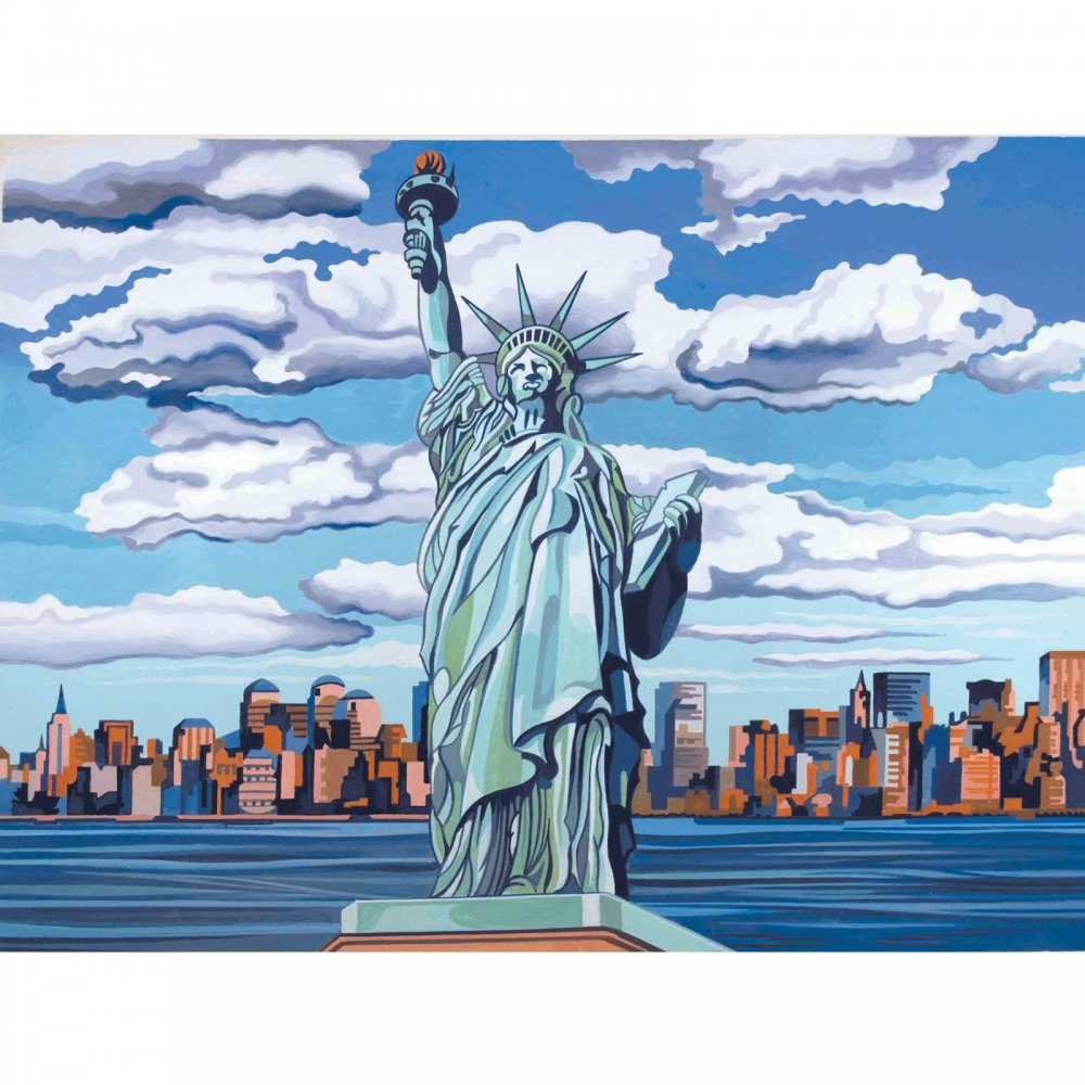 Senior Paint By Numbers Statue Of Liberty - Reeves from CraftyArts.co.uk UK