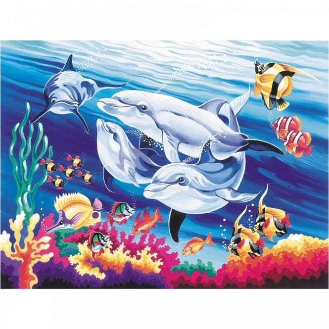 Senior Paint By Numbers Underwater Dolphins