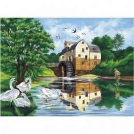 Senior Paint By Numbers Watermill