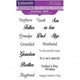 Sentiment Greetings for Males Family Members