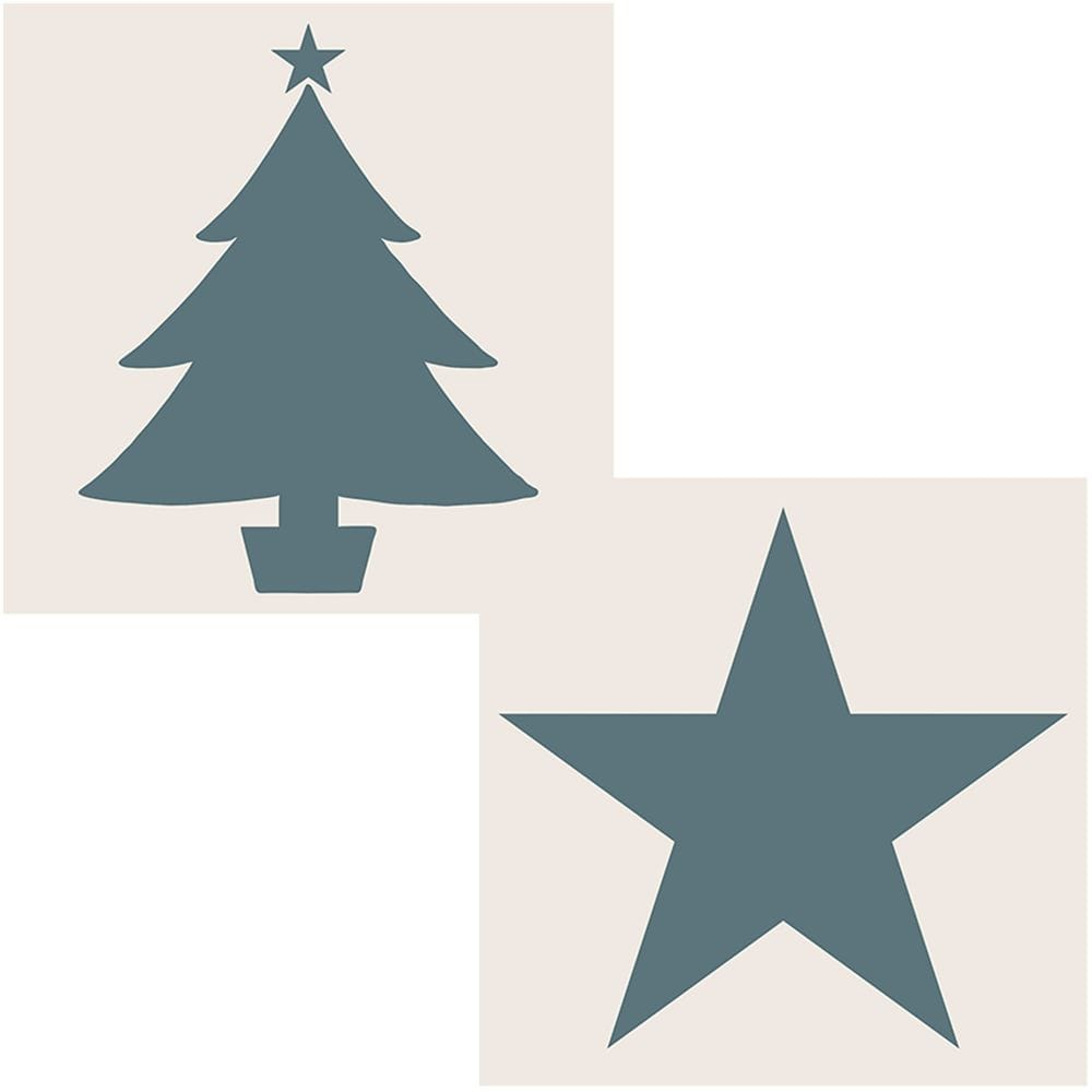 Christmas Tree Stencils: Sentimentally Yours By Phill Martin Aperture Stencils Star
