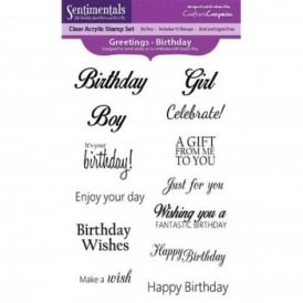 Sentiments Greetings Birthday