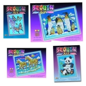 Sequin and Bead  Art 4 Pack Bundle