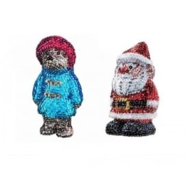 Sequin Art 3D Santa & 3D Paddington Bear Bundle