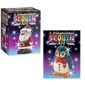 Sequin Art 3D Santa and Penguin Bundle
